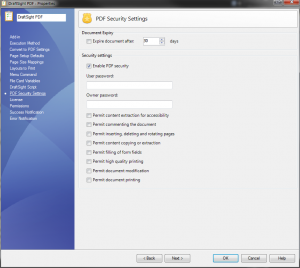 DSPDFSecuritySettings